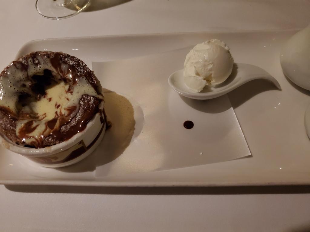 Chocolate Souffle and Cream