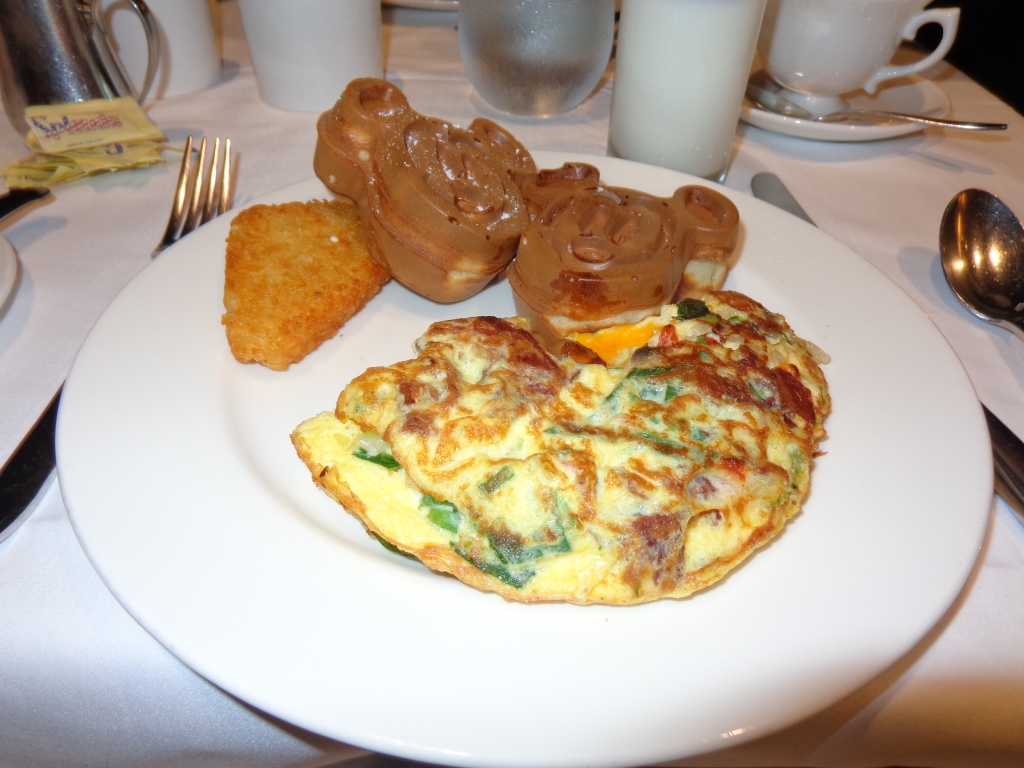 Mickey Waffles and Omelets.